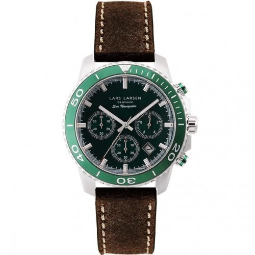 Zegarek Lars Larsen 134-Green/Dark Brown
