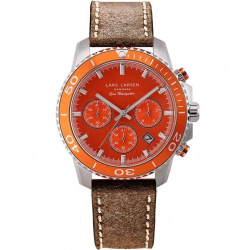 Zegarek Lars Larsen 134-Orange/Brown